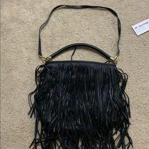 2️⃣ for $25❗️H&M fringe black bag
